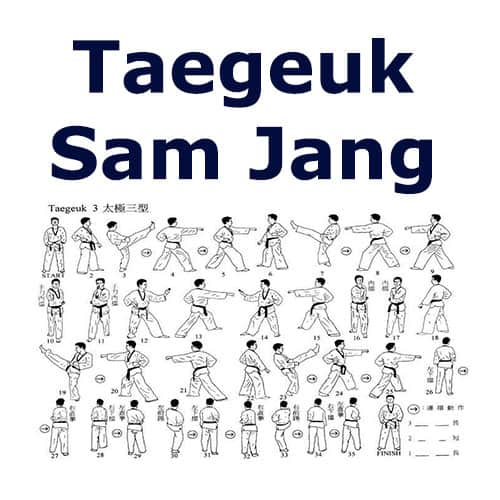 Tae Kwon Do Form Taegeuk Sam Jang
