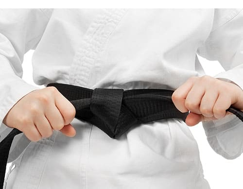 How to tie a belt in Tae Kwon Do