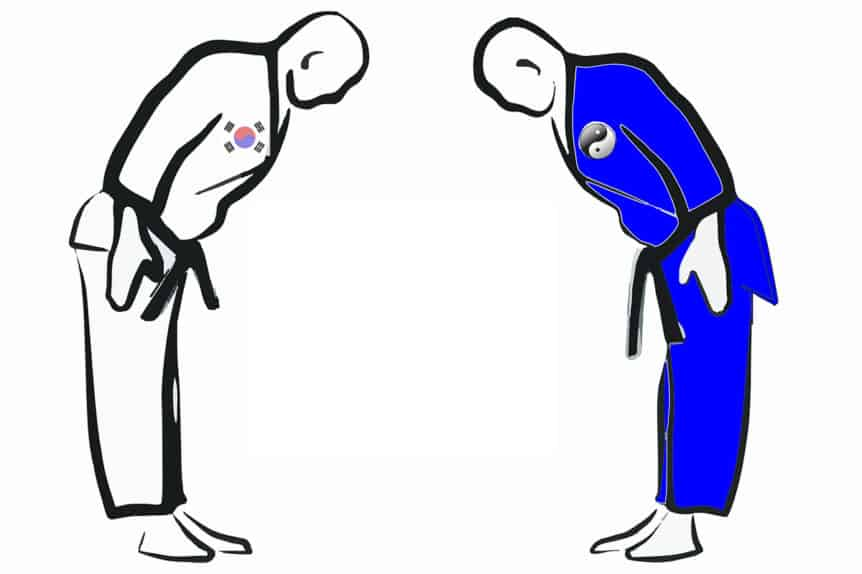 Bowing in Taekwondo