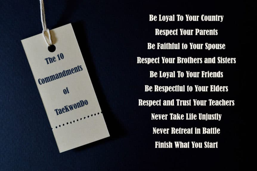Commandments of TaeKwondo