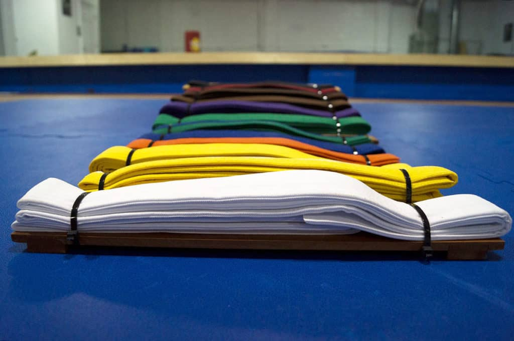 Belt order for the American Taekwondo Association